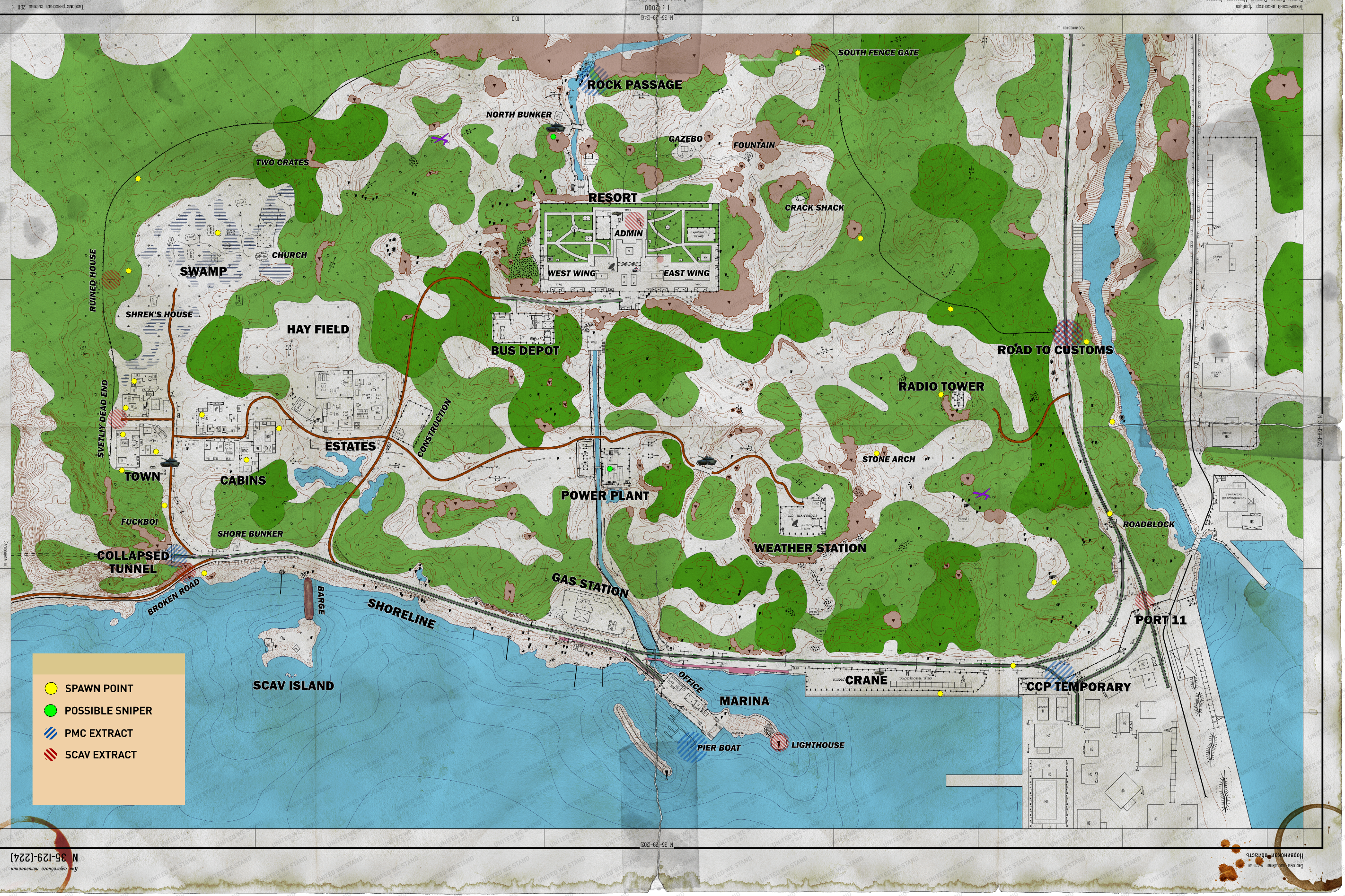 Shoreline Map Comprehensive Guide Player Resources United We Stand Gaming Community